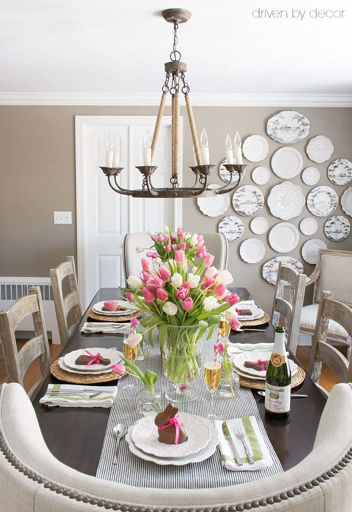 Setting a Simple Easter Table With Decorations