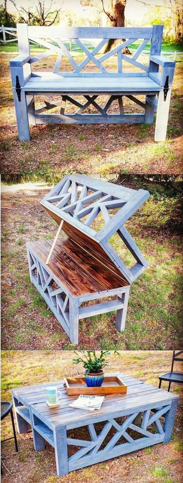 Bench into table #WoodworkingBench #diyfurniturerepurpose
