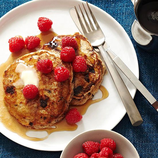 Early risers and sleepyheads alike will love the sweet surprise of chocolate and fresh raspberries in these beautiful banana pancakes. Our simple three-step process makes it easy to enjoy them any time of day./