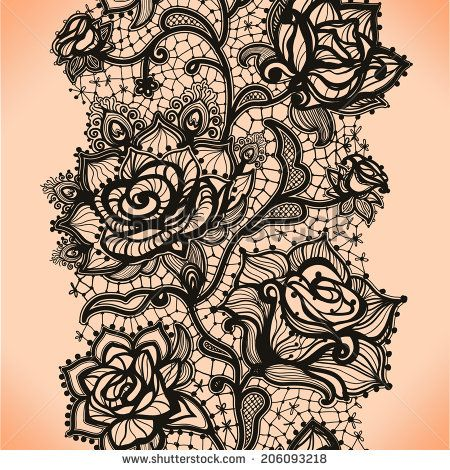 Abstract seamless lace pattern with flowers roses. Infinitely wallpaper, decoration for your design, lingerie and jewelry. Your invitation cards, wallpaper, and more.