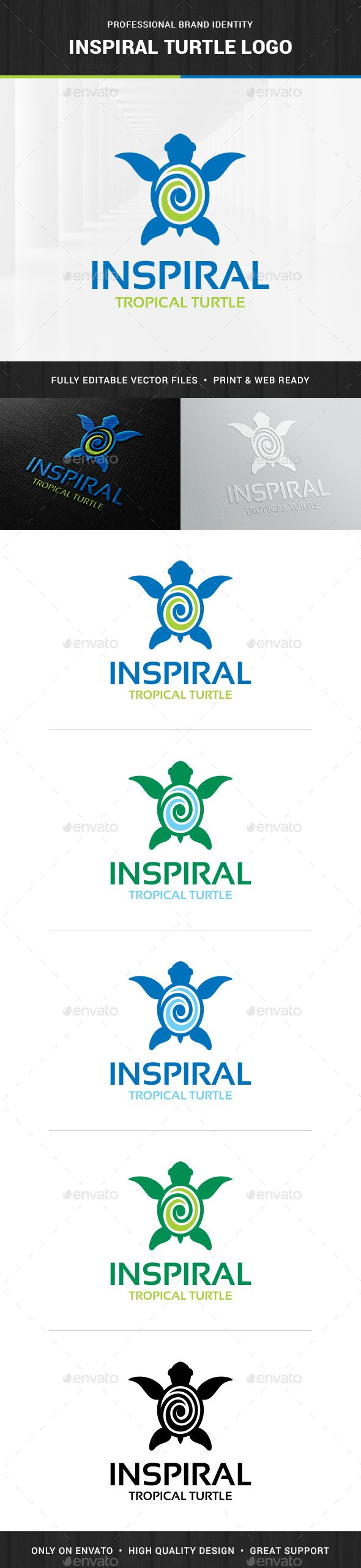 Inspiral turtle logo template logo templates turtle and template biocorpaavc