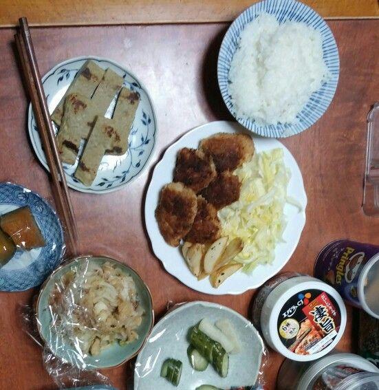 2月25日(水) 曇り雨 じゃこ天 カボチャ 鶏肉 キムチ 64.7
