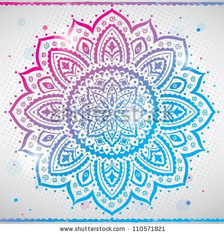 color indian ornament stock vector 110571821 shutterstock stock vector indian ornament kaleidoscopic floral pattern mandala 450x470