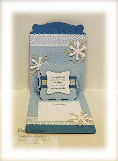 stampersblog: Snowy Stacks of Wishes Pop 'n Cuts card combining SU Card Base with Sizzix Label Insert