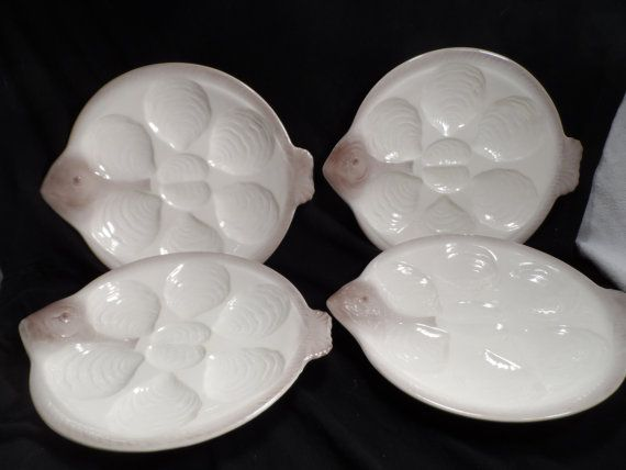 Oyster Plates-Antique Fish Shaped Oyster Plates-Waechtersbach Oyster Plates Made in Germany # 3896/0 & 10 best Oyster Plates images on Pinterest   Oysters Dishes and ...