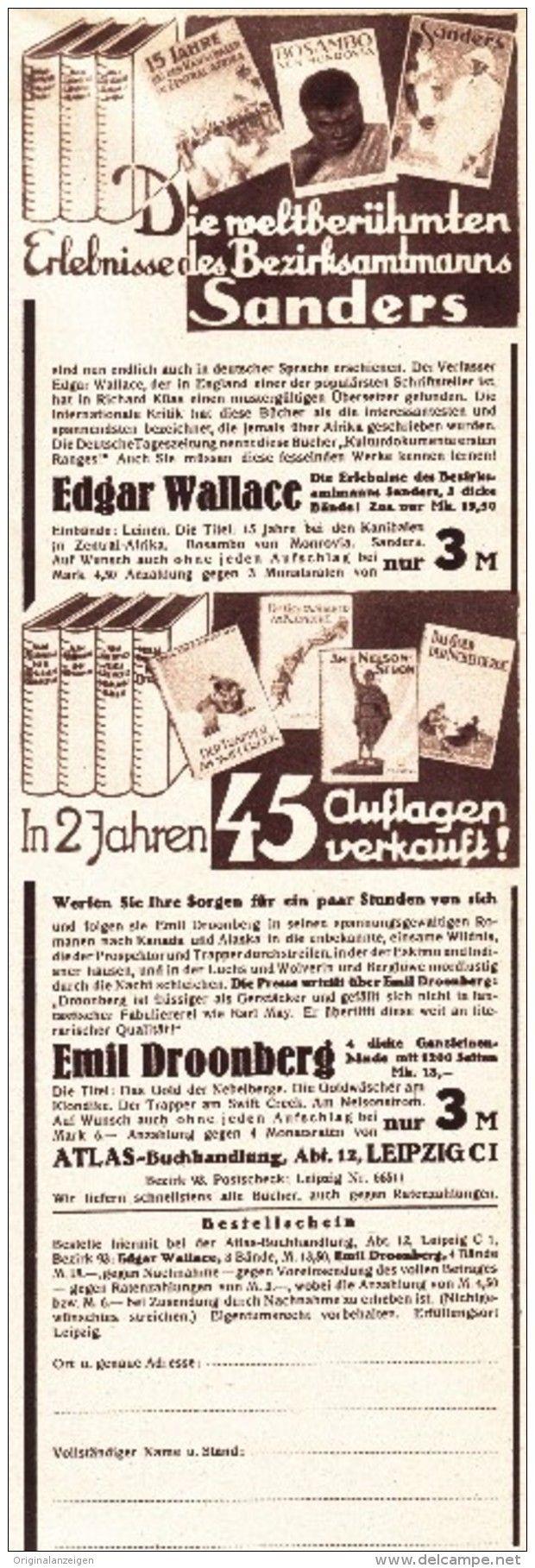 Original-Werbung/ Anzeige 1926 - EDGAR WALLACE : ERLEBNISSE DES BEZIRKSAMTMANNS…