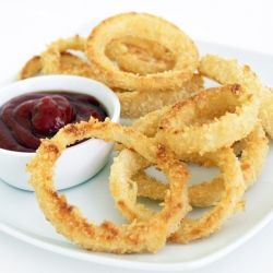 Oven-Fried Onion Rings: The perfect comfort food made easy.