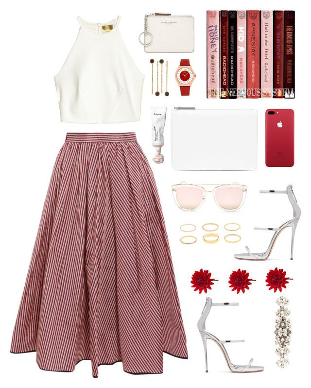 """""""Red Devil"""" by ohjessica ❤ liked on Polyvore featuring Tome, H&M, Giuseppe Zanotti, Maison Margiela, Quay, Dolce&Gabbana, Marc Jacobs and LC Lauren Conrad"""
