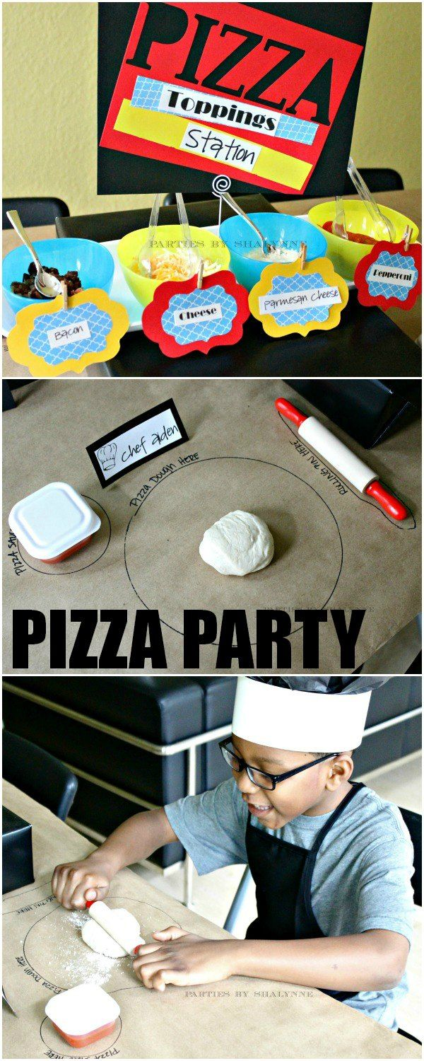 Make-your-own Pizza Party! Great idea for kids :).