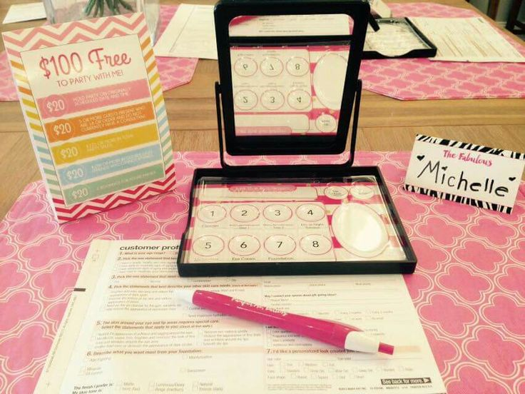 Mary Kay Set-Up Idea from Michelle Cunningham, Mary Kay Director