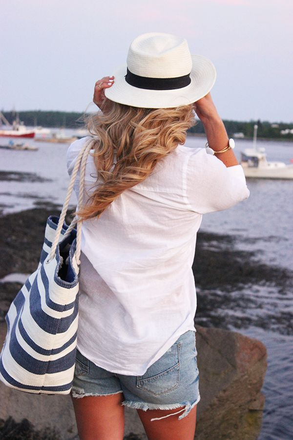 Classic east coast style | stripes and panama hat