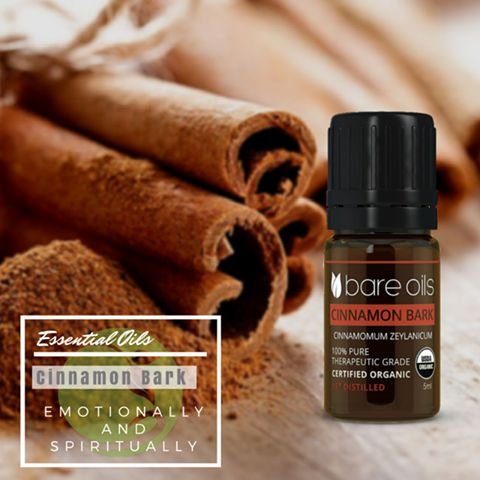 Emotionally and spiritually, cinnamon oil is related to the lower chakras and can encourage self-acceptance or self-confidence, sexual expression, and the clearing of trapped emotions from past trauma. It also correlates to our sense of safety and security, which when out of balance, can leave a person feeling jealous, insecure, controlling, or unable to be vulnerable in relationships.