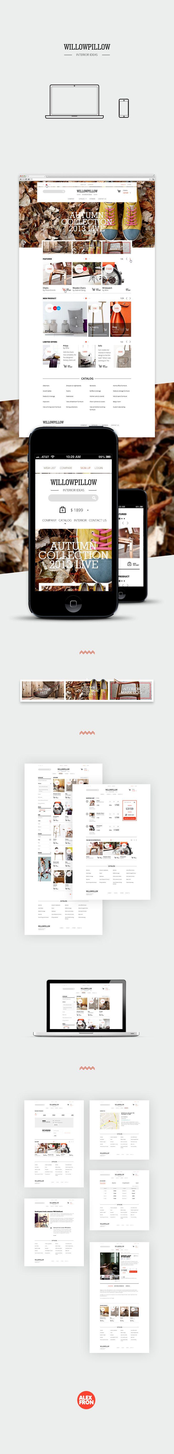 WillowPillow Interior Ideas #webdesign