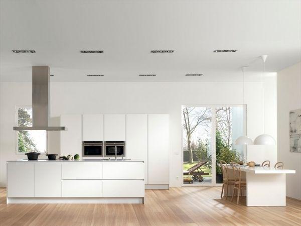 Weiße Küche Kochinsel Moderne Küchengeräte