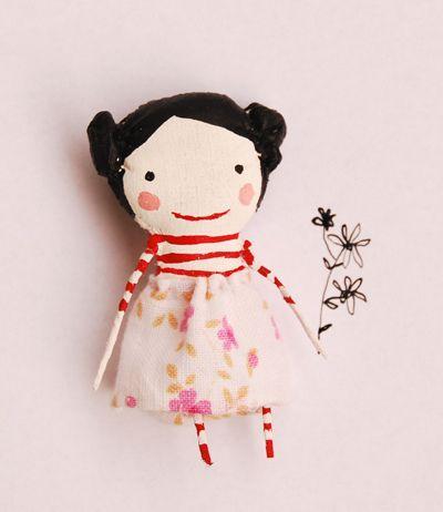 cute doll - handmade and 6 cm tall?!