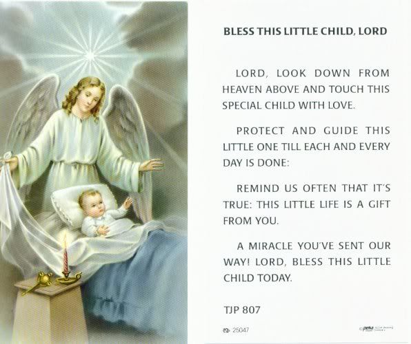 Baby Guardian Angel Quotes: Bless This Little Child,Lord
