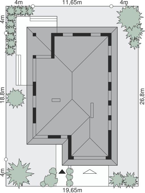 Sytuacja Dom przy Pastelowej 3 CE