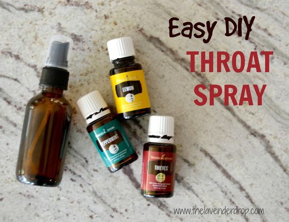 Using Essential Oils to make an easy DIY throat spray; Young Living: peppermint, lemon, and theives
