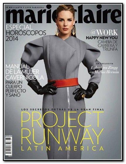 Eglantina Zingg en la portada de MarieClaire Mexico