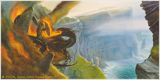 Beowulf & the Dragon. His final battle. John Howe