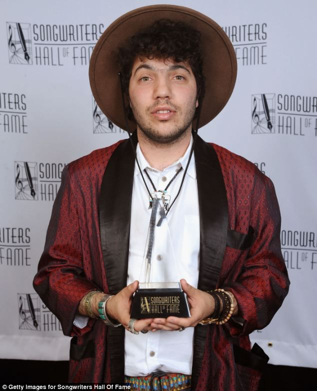 Hataboy: Organisers waived the no hats rule as Benny Blanco was the Hal David Starlight Award
