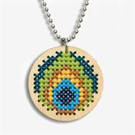Peacock Pendant Counted Cross Stitch Kit