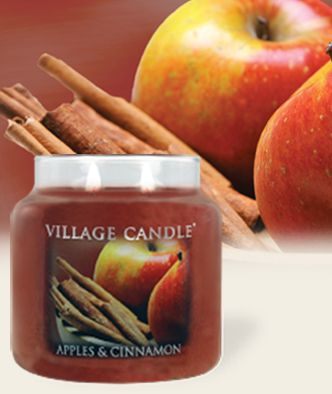 Apples & Cinnamon-Premium Round Scented Candles | Village Candle