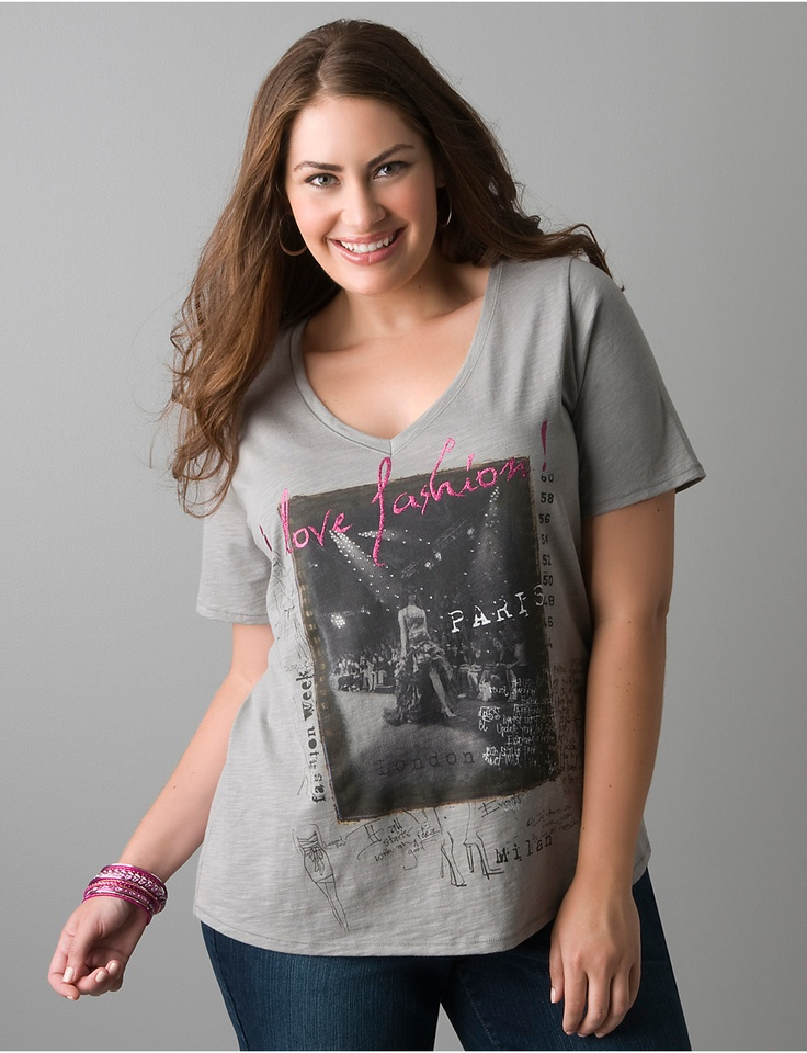 Plus Size I Love Fashion Graphic Tee Lane Bryant Things I Want Style Accessorize