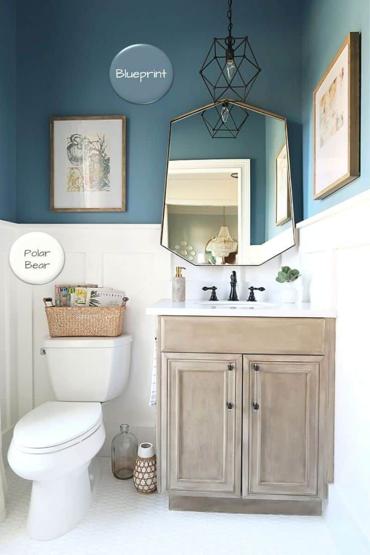 Best Blue Paint Colors With Home Tour In 2021 Small Bathroom Paint Bathroom Paint Colors Behr Small Bathroom Colors Durable paint for bathrooms