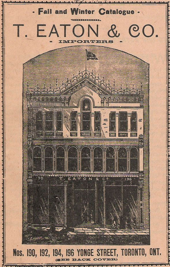 Eatons Catalogue 1880s