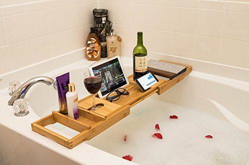 35 best Wooden Bathtub Trays images on Pinterest | Bathtub caddy ...