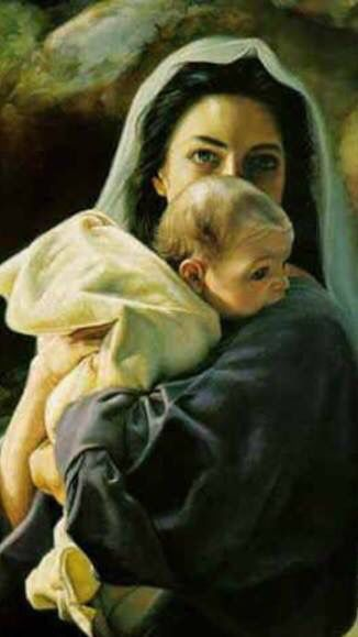 Precious pic of mother Mary and baby Jesus