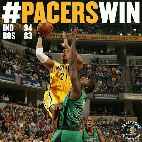 The Indiana Pacers snapped their losing streak tonight, winning 94-83 over the Boston Celtics. Leading the way was David West who finished with 24 point and 5 rebounds, while Paul George added 12 points and 4 assists.