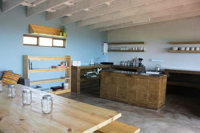 Swell Eco Lodge Accommodation South Africa Travel, Transkei, Wild Coast kitchen concrete design