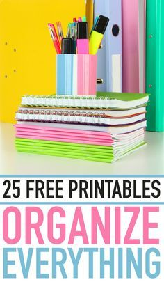 FREE printables to organize your whole life!