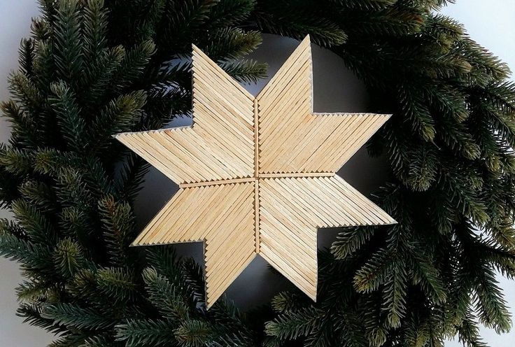Matchstick art - star made of approx 132 sticks