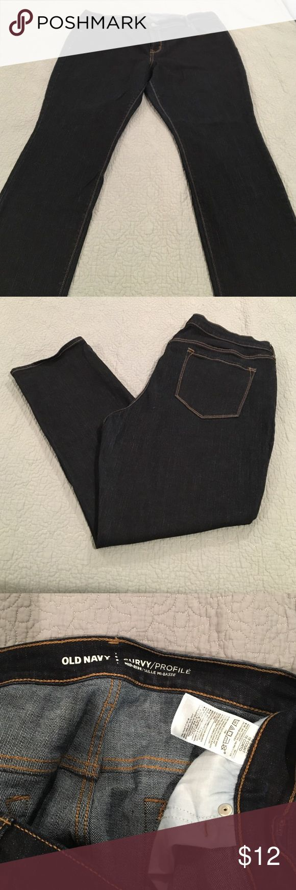 Worn once old navy jeans size 18 short Worn once • too big for me • old navy • curvy jeans • old navy • dark blue • size 18 short Old Navy Jeans