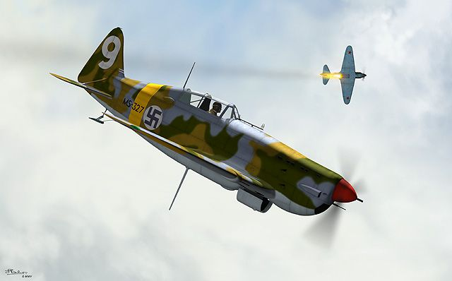 Morane-Saulnier MS.406, Finnish Air Force.