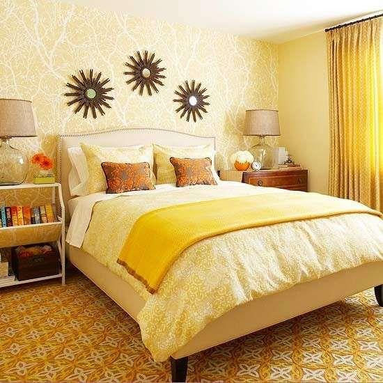 Idee per le pareti della camera da letto - Colore parete camera da letto giallo