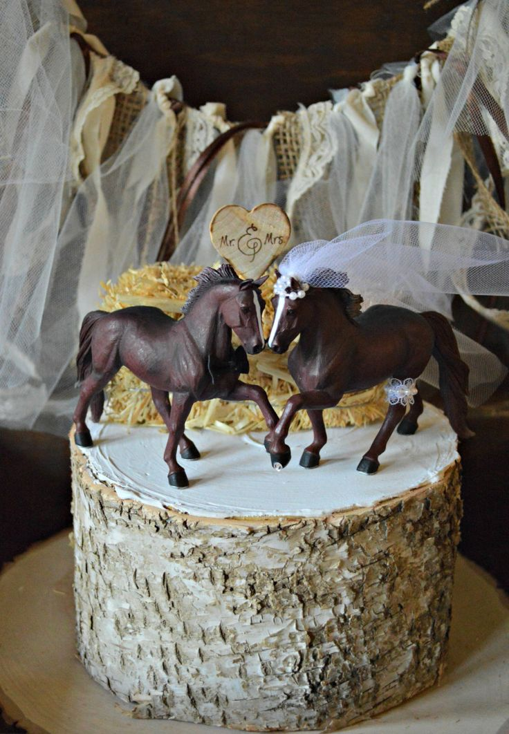 Horse Wedding Cake Topper-Western Cake Topper-Country Western Cake Topper-Cowboy Cake topper by MorganTheCreator on Etsy https://www.etsy.com/listing/123468880/horse-wedding-cake-topper-western-cake