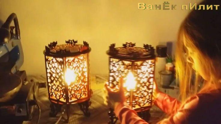 5. Шестигранный светильник (how to make scroll saw  lamp)