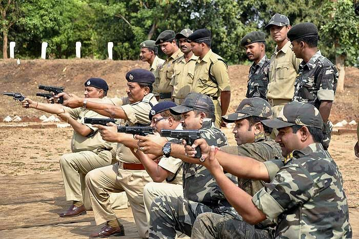 Indian police firing range training #training #gun #police #indian