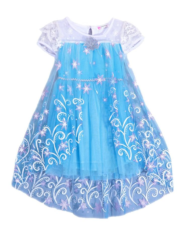 Horcute Lovely Princess Dress With Beautiful Snowflake,3 Colors. 3 Colors For your princess With Beautiful Snowflake. Available in sizes 2T-6X.For Kids Girls 2-7 Years.Please refer to the Amazon size chart before place an order. Dress only,headwear on the pictures are not included. If you have any question,please contact us anytime. Hand wash, dry flat.