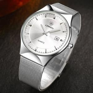 On sale. LIANDU High Quality Men's Stainless Steel Watch with silver, blue or black watch face. Click here.
