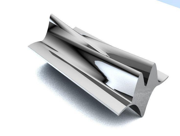 Starship bench - Chrome Metal
