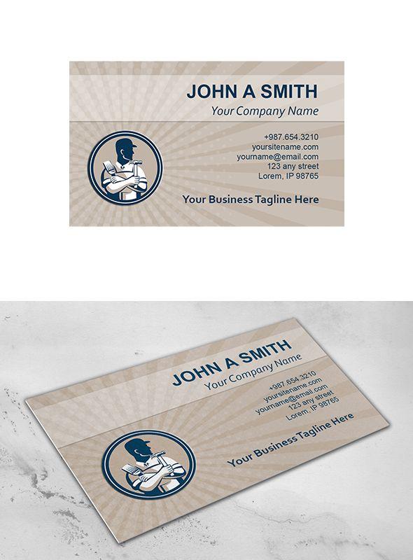 Business Card Template Carpenter Pai