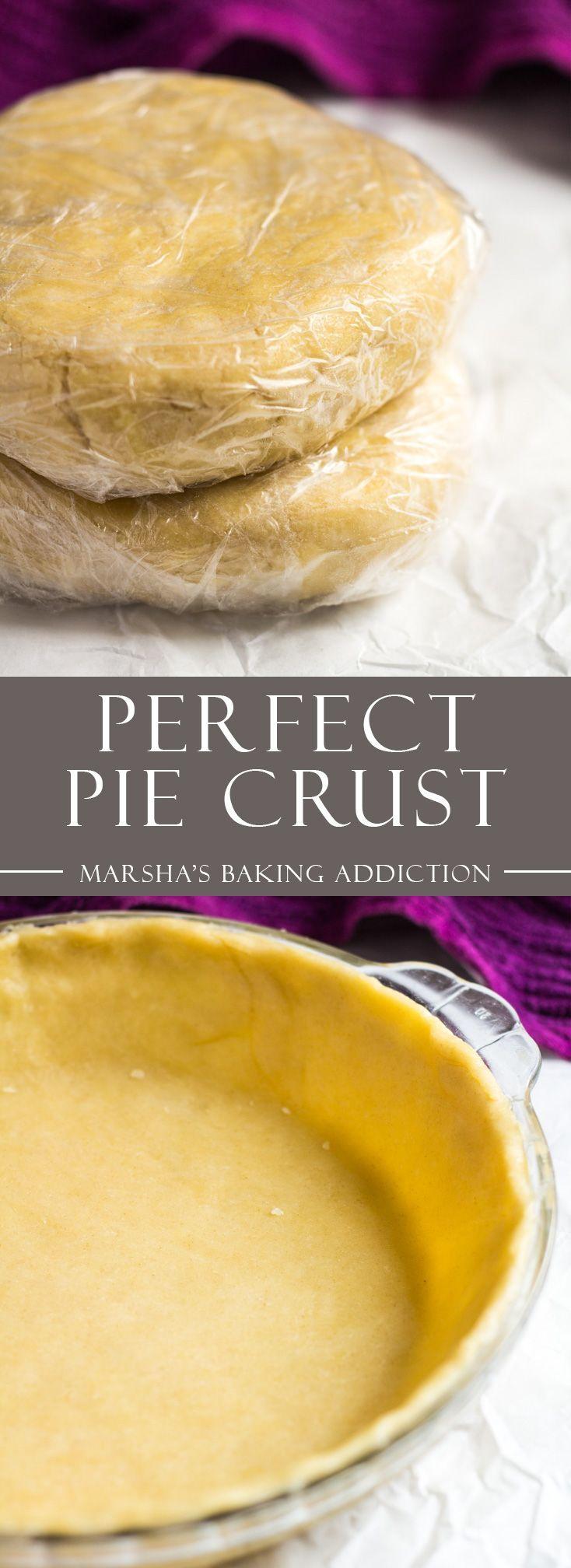 The Perfect Pie Crust | marshasbakingaddiction.com @marshasbakeblog