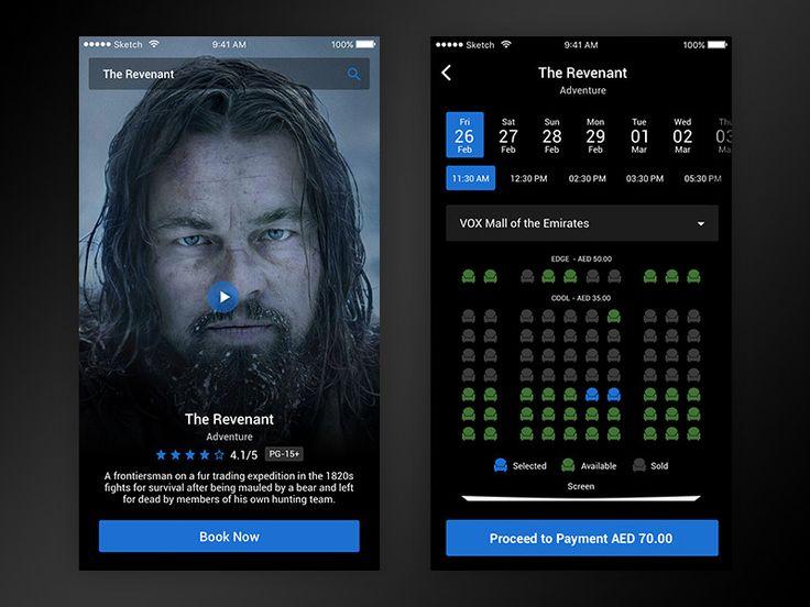 Movie ticket booking UI by Rakesh
