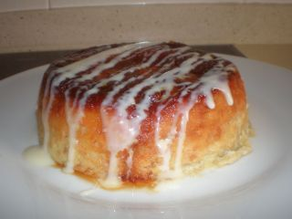 Tarta de manzana al microondas/ con receta.