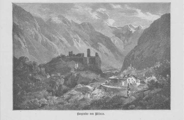 Mesocco Castello di Mesocco Graubünden HOLZSTICH von 1883 Schweiz Suisse | eBay
